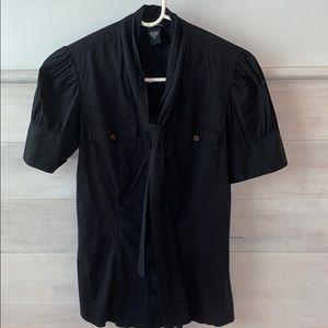 Black button up short sleeve